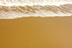 Shiny tropic sea wave on golden beach sand Royalty Free Stock Image