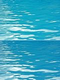 Shiny turquoise and blue water waves Stock Images