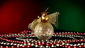 Shiny unusual gold toy for Christmas or New Year stock video footage
