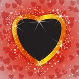 Shiny Valentine or wedding background with blank photo frame. Vector illustration royalty free illustration