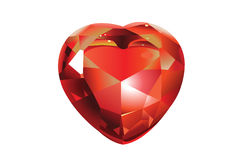 Shiny Valentines Diamond Hearts. Red Shiny valentines diamond hearts . Vector illustration Stock Illustration
