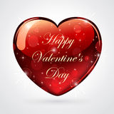 Shiny valentines heart Royalty Free Stock Images