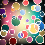 Shiny Vector Colors. Shiny colorful circles and stars Royalty Free Stock Photo