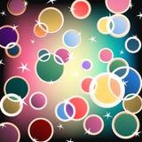 Shiny Vector Colors. Shiny colorful circles and stars vector illustration
