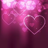Shiny vector heart. Beautiful shiny heart vector background illustration Stock Photography