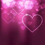 Shiny vector heart Stock Photography