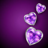 Shiny vector heart Royalty Free Stock Images