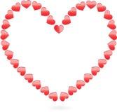 Shiny vector hearts for valentines day Stock Photo