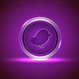Shiny Vector Icon for Social Networking. Royalty Free Stock Images