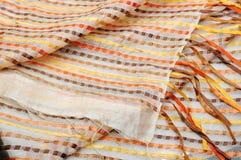 Shiny vibrant geometric rug texture Royalty Free Stock Photos