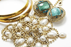 Shiny vintage jewelry stock photo