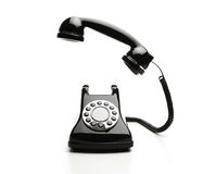 Shiny vintage telephone Stock Photo