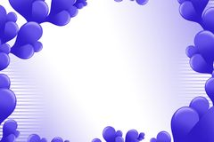 Shiny violate bubble border , abstract background Stock Photography