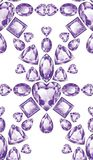 Shiny Violet Amethyst Stock Images