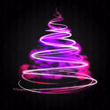 Shiny violet blue tree flare on black Royalty Free Stock Images