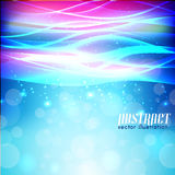 Shiny wave abstract background Stock Photography