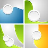 Shiny waves backgrounds with circle shapes Stock Photo