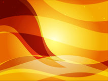 Shiny Wavey Background Orange royalty free stock photography