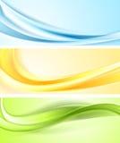 Shiny wavy vector banners Stock Photography