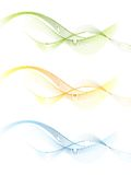 Shiny wavy vector banners Stock Photo
