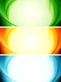 Shiny wavy vector banners Stock Photo