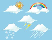 Shiny Weather icons Stock Photos