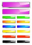 Shiny web banners Royalty Free Stock Photo