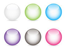 Shiny web buttons Stock Photo