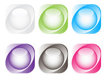 Shiny web buttons Royalty Free Stock Photo
