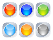 Shiny web buttons royalty free stock photography