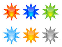 Shiny web buttons Royalty Free Stock Images