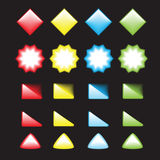 Shiny web buttons 2 Stock Photography