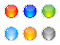 Shiny web buttons stock photography