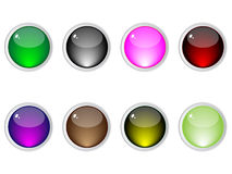 Shiny web buttons royalty free stock photos