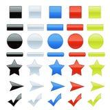 Shiny Web Elements Royalty Free Stock Photos