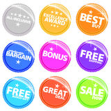 Shiny Web Stickers And Tags With Text Royalty Free Stock Photo