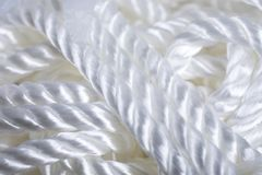 Shiny white rope background stock image