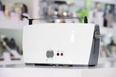 Shiny white toaster Royalty Free Stock Images