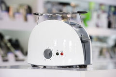 Shiny white toaster Royalty Free Stock Photo