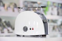Shiny white toaster Royalty Free Stock Photo