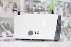 Shiny white toaster Royalty Free Stock Photography