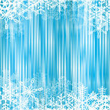 Shiny winter background. Shiny blue background with snowflake frames Royalty Free Stock Photography
