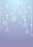 Shiny winter background. Shiny background with snowflakes and lights Royalty Free Stock Image