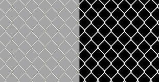 Shiny wire chain link fence Royalty Free Stock Photography