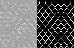 Shiny wire chain link fence Stock Photo