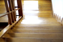 Shiny wood stair Stock Photography