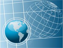 Shiny world globes vector Royalty Free Stock Images