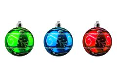 shiny xmas or christmas balls collection isolated Stock Photo