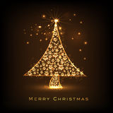 Shiny Xmas Tree for Merry Christmas celebration. Royalty Free Stock Photos