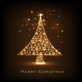 Shiny Xmas Tree for Merry Christmas celebration. Royalty Free Stock Photos